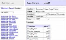 adminer-export