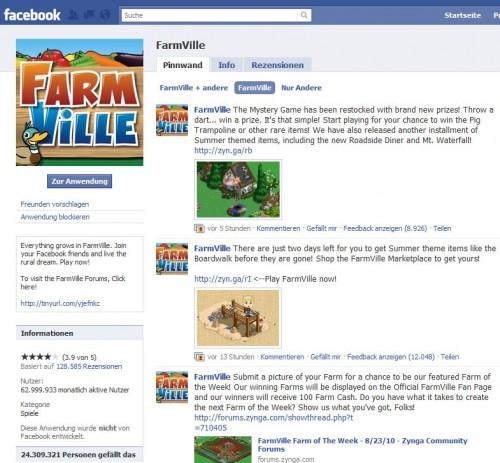 Farmville-Anmeldung