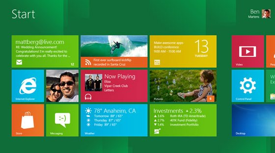 Windows 8 mit  Windows 7 Look