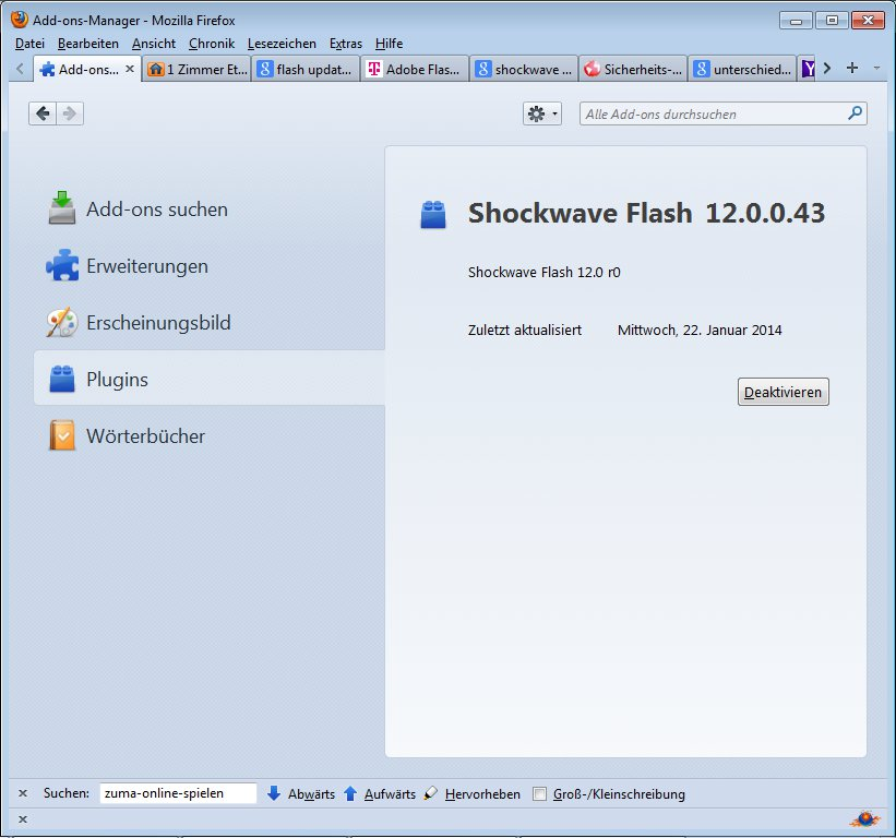 shockwave flashplayer update