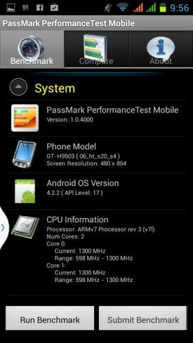 Smartphone-Passmark-Test